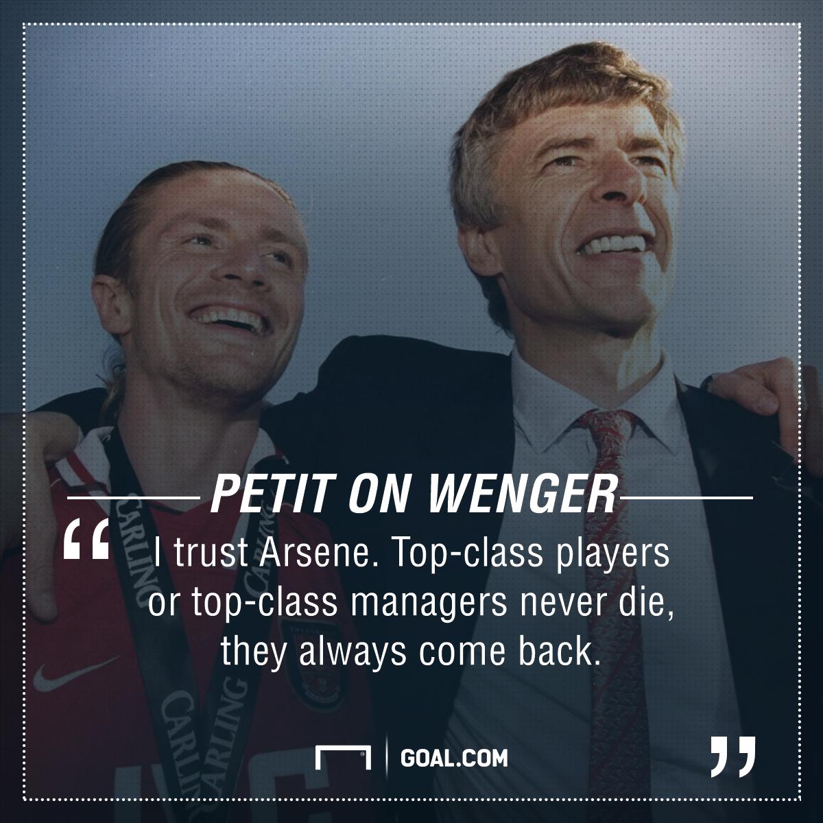 Emmanuel Petit Arsene Wenger Arsenal