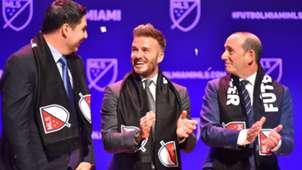 David Beckham Don Garber