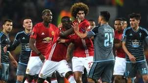 Eric Bailly Marouane Fellaini Manchester United Celta Vigo