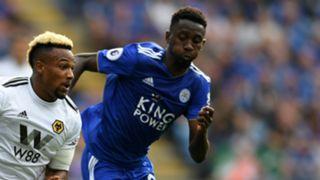 Adama Traore, Wilfred Ndidi - Leicester City v Wolverhampton Wanderers - Premier League