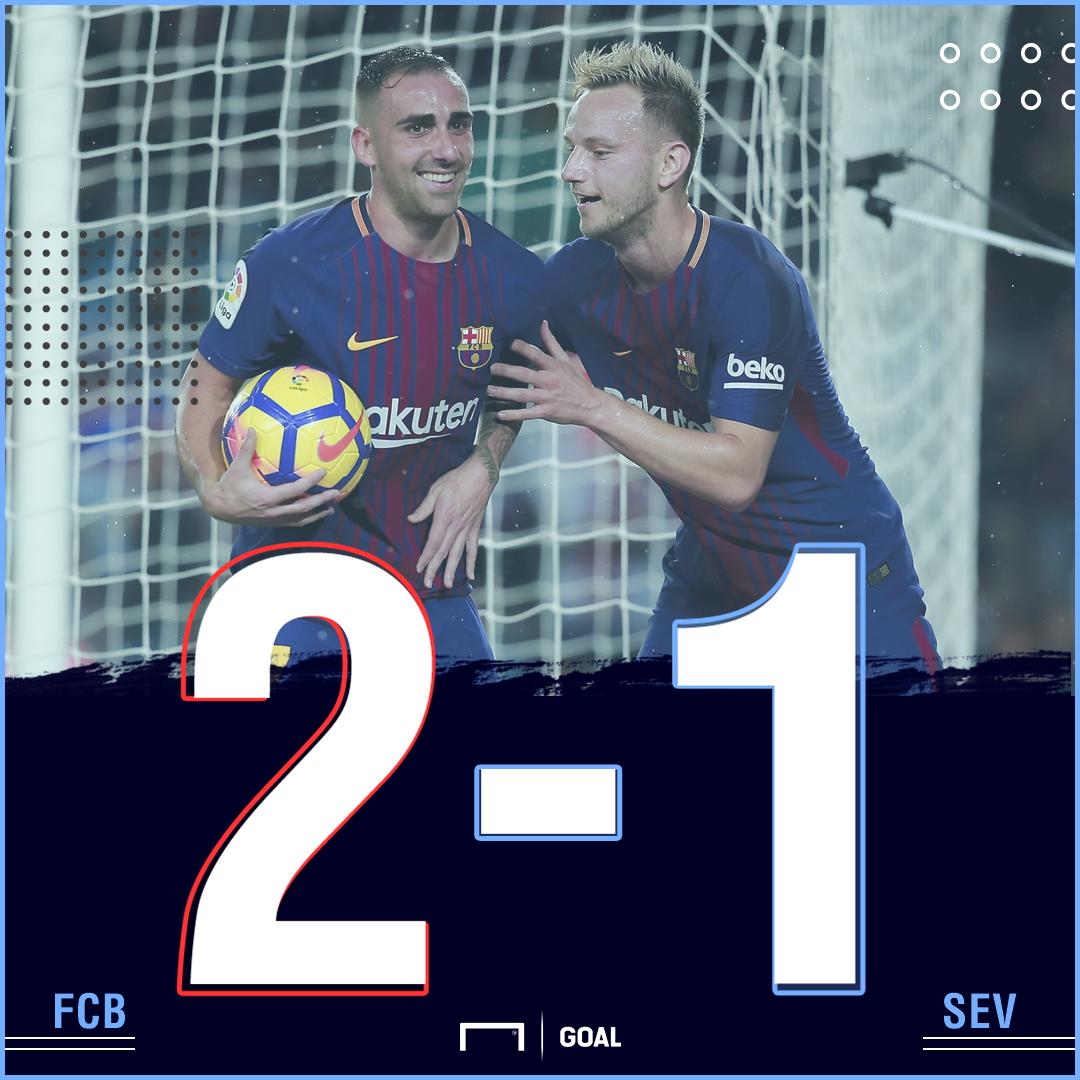 Barca Sevilla score