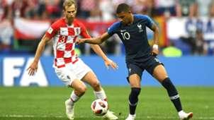 Kylian Mbappe Ivan Strinic France Croatia World Cup Final 15072018