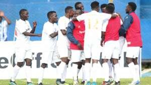 AFC Leopards players celebrate v Nakumatt.