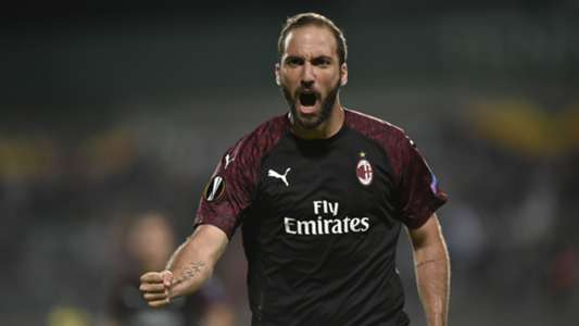 Gonzalo Higuain goal Dudelange Milan