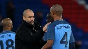 Guardiola Kompany Manchester City