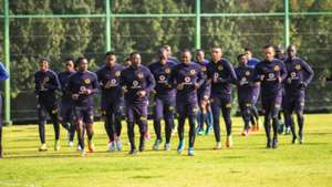 Kaizer Chiefs players at training