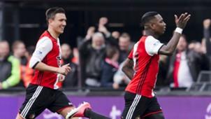 Steven Berghuis, Eljero Elia, Feyenoord - FC Utrecht, Eredivisie 04162017