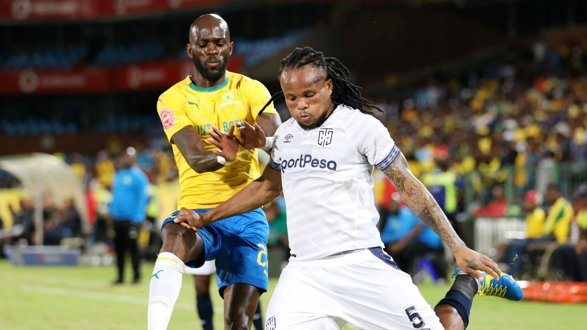 Anthony Laffor, Sundowns & Edmilson Dove, Cape Town City, February 2019