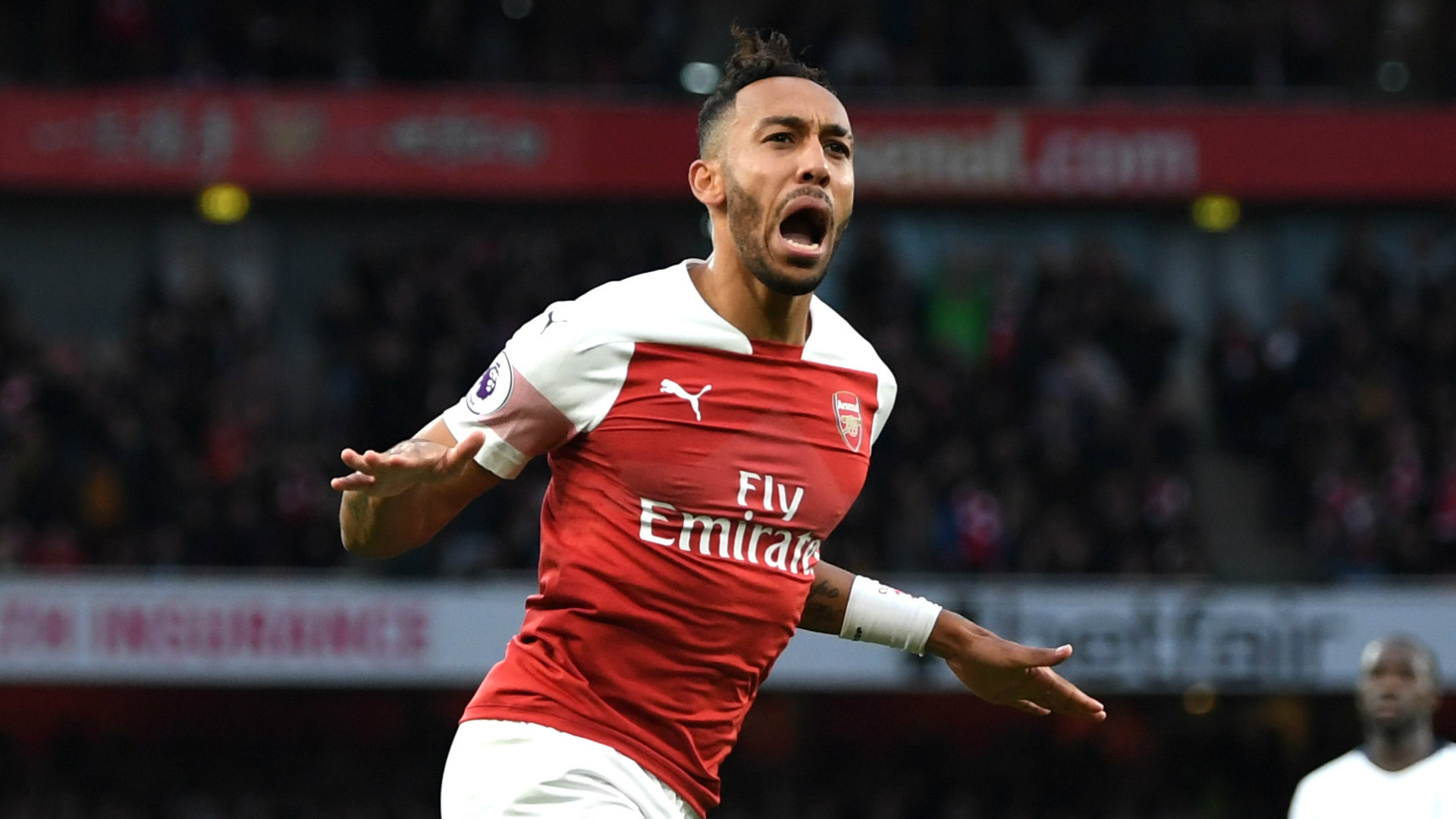 Pierre-Emerick Aubameyang Arsenal vs Tottenham 2018-19