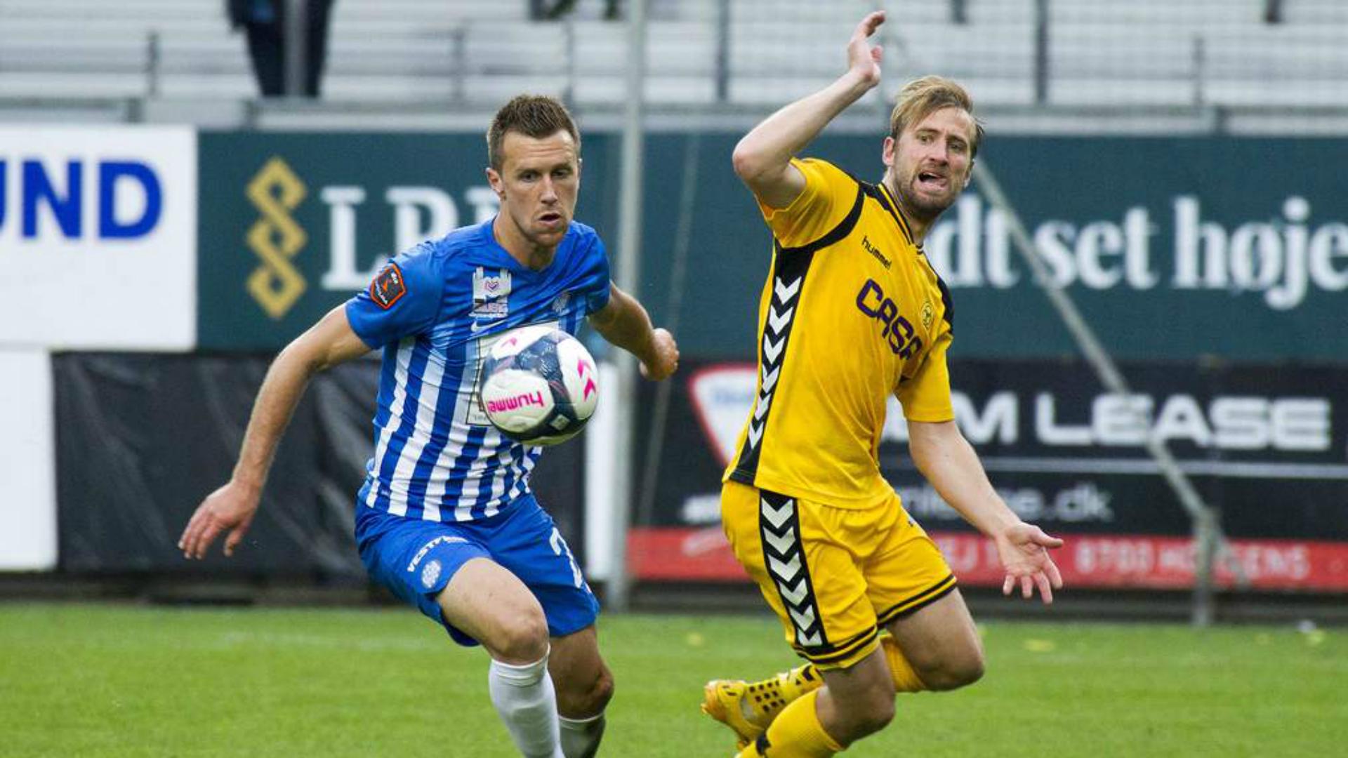Brent McGrath Esbjerg v Horsens Danish Superliga
