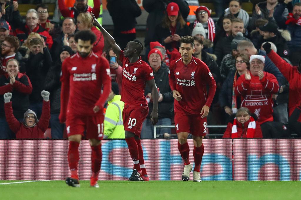 Sadio Mane goal Liverpool vs Manchester United EPL 161218