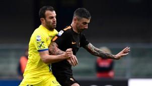 Riccardo Meggiorini, Alexandar Kolarov, Chievo, Roma, Serie A, 10122017