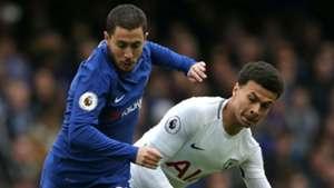 Eden Hazard Chelsea Dele Alli Tottenham 01042018