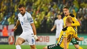 Jordan Henderson England vs Lithuania 081017