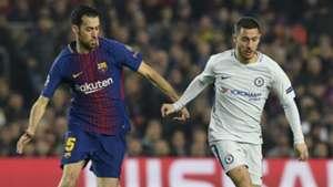 Sergio Busquets Eden Hazard Chelsea Barcelona