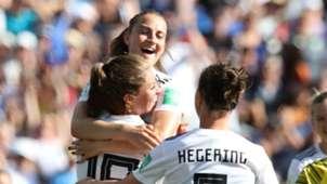 Germany women celebrate vs South Africa