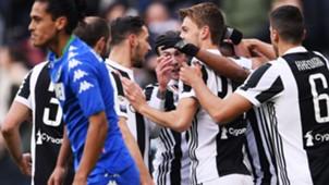 Juventus celebrating Sassuolo