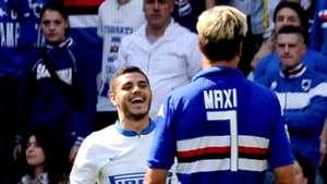 Mauro Icardi Inter Milan Maxi Lopez Sampdoria Serie A