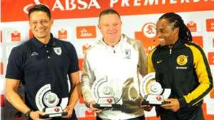 Moeneeb Josephs Gavin Hunt and Siphiwe Tshabalala