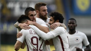 Roma celebrates Chievo Serie A