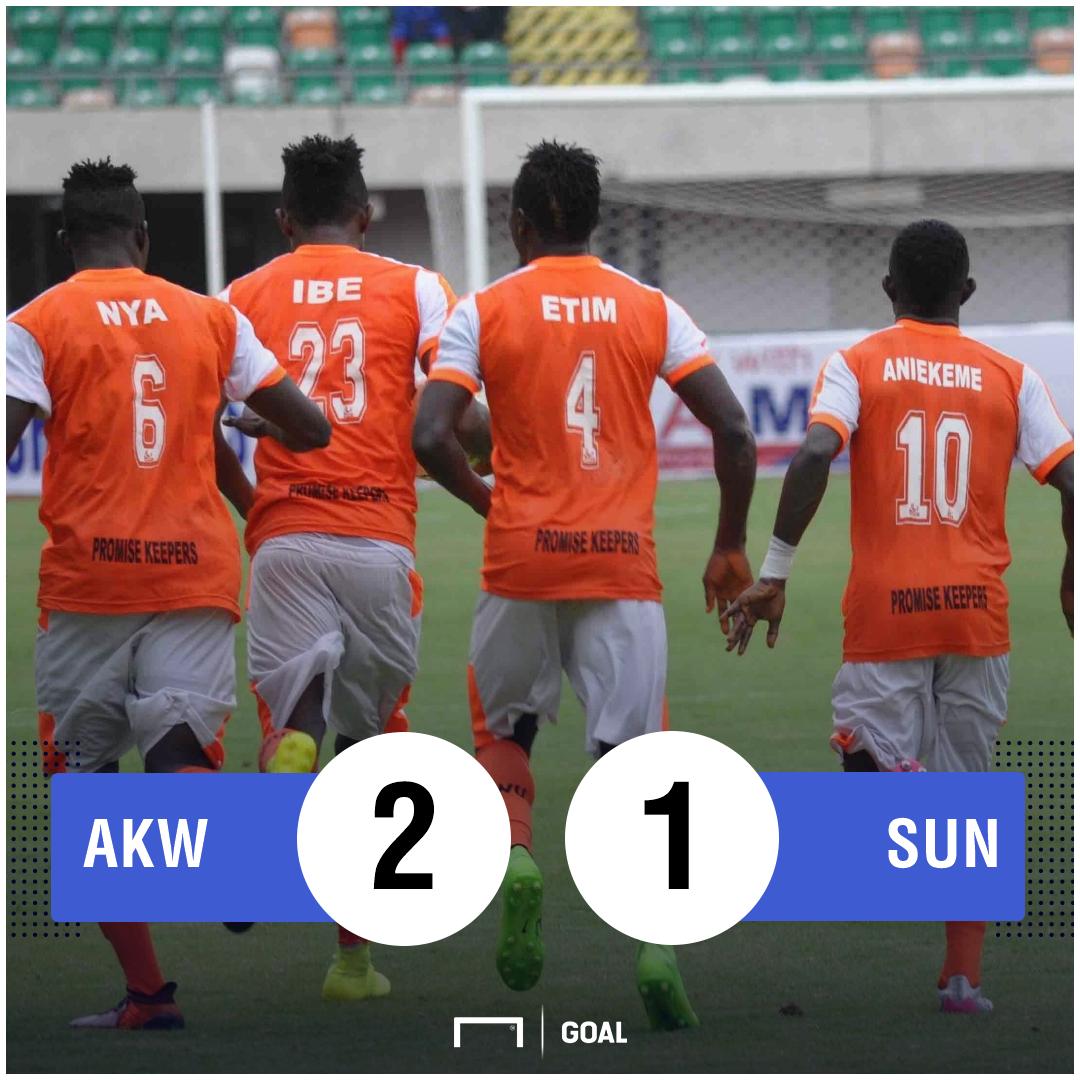 Akwa United Sunshine Stars Scoreline PS