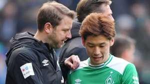 Yuya Osako Florian Kohfeldt Werder Bremen 2019-04-13