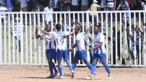AFC Leopards celebrate against Fosa Junior.