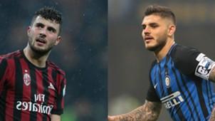 Cutrone Icardi Milan Inter Serie A