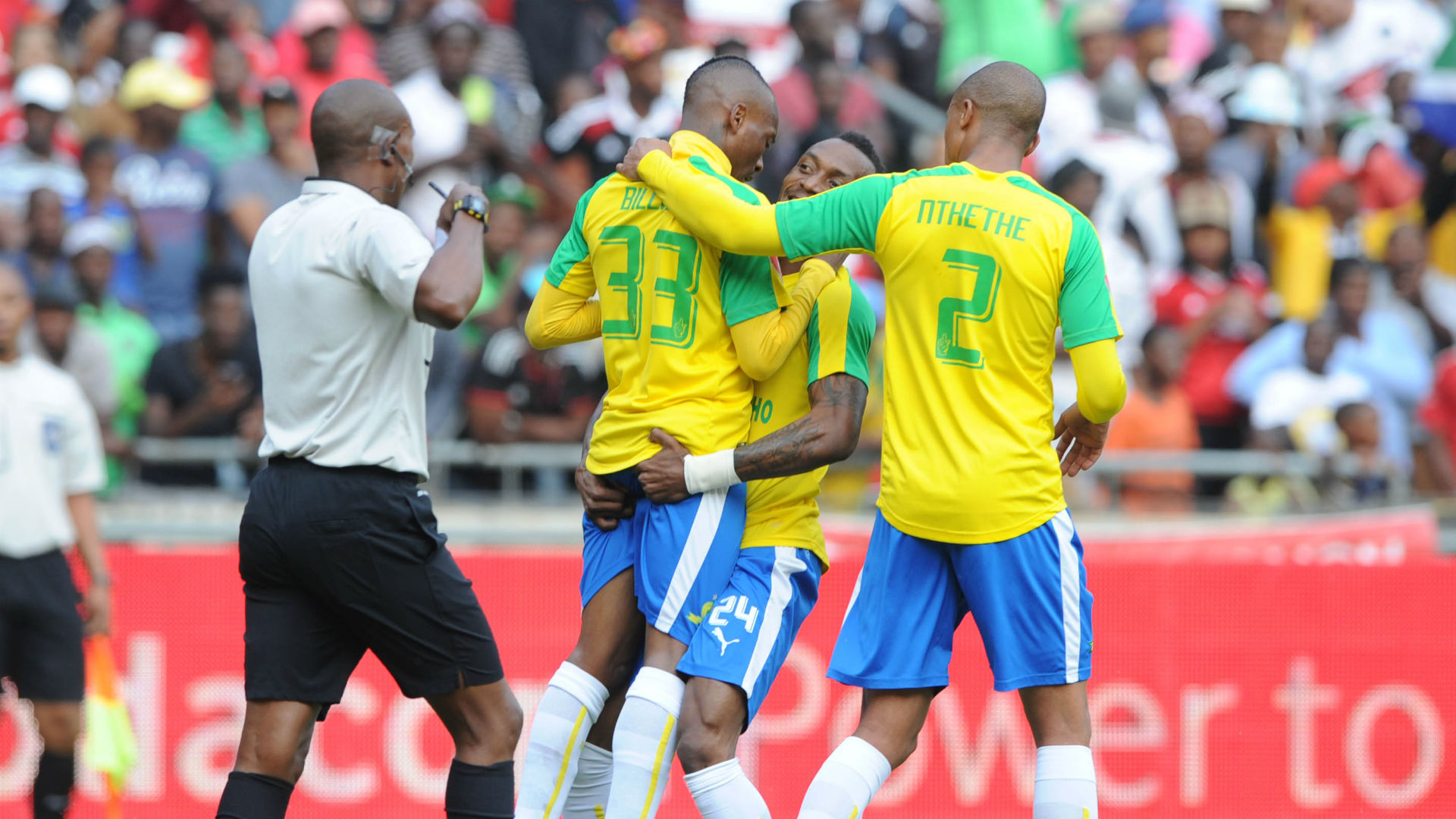Khama Billiat, Yannick Zakri, Thabo Nthethe - Orlando Pirates vs Sundowns