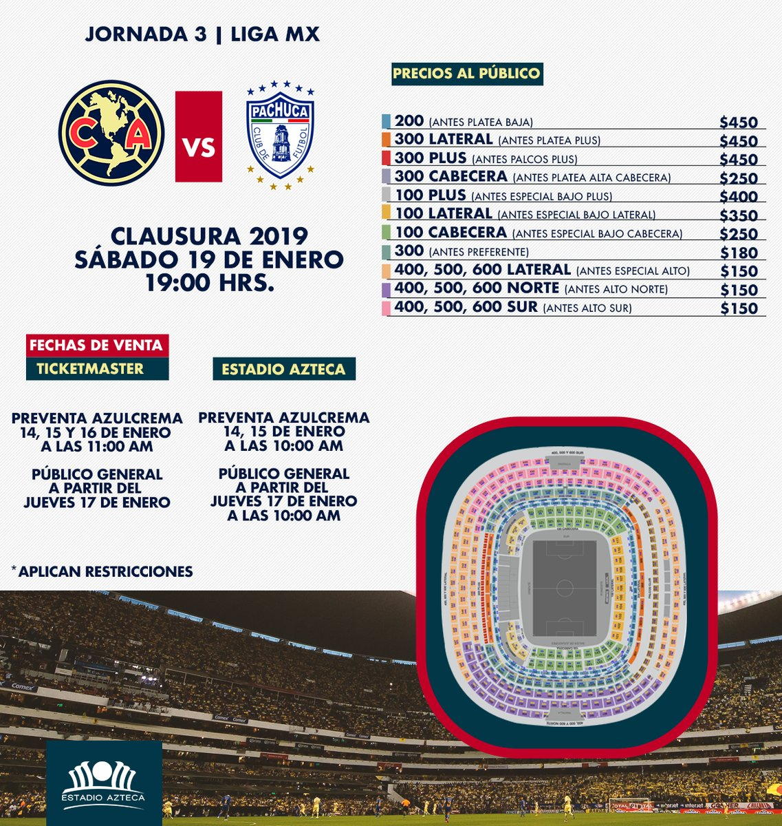 Boletos América vs Pachuca