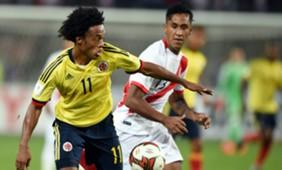 Juan Guillermo Cuadrado Renato Tapia Colombia Perú Eliminatorias Conmebol 121017