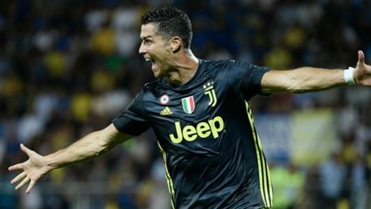 Ronaldo celeb Frosinone Juventus