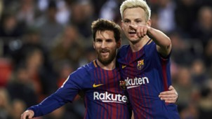 Ivan Rakitic Lionel Messi Barcelona 08022018