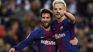 Ivan Rakitic Lionel Messi Barcelona 08022018