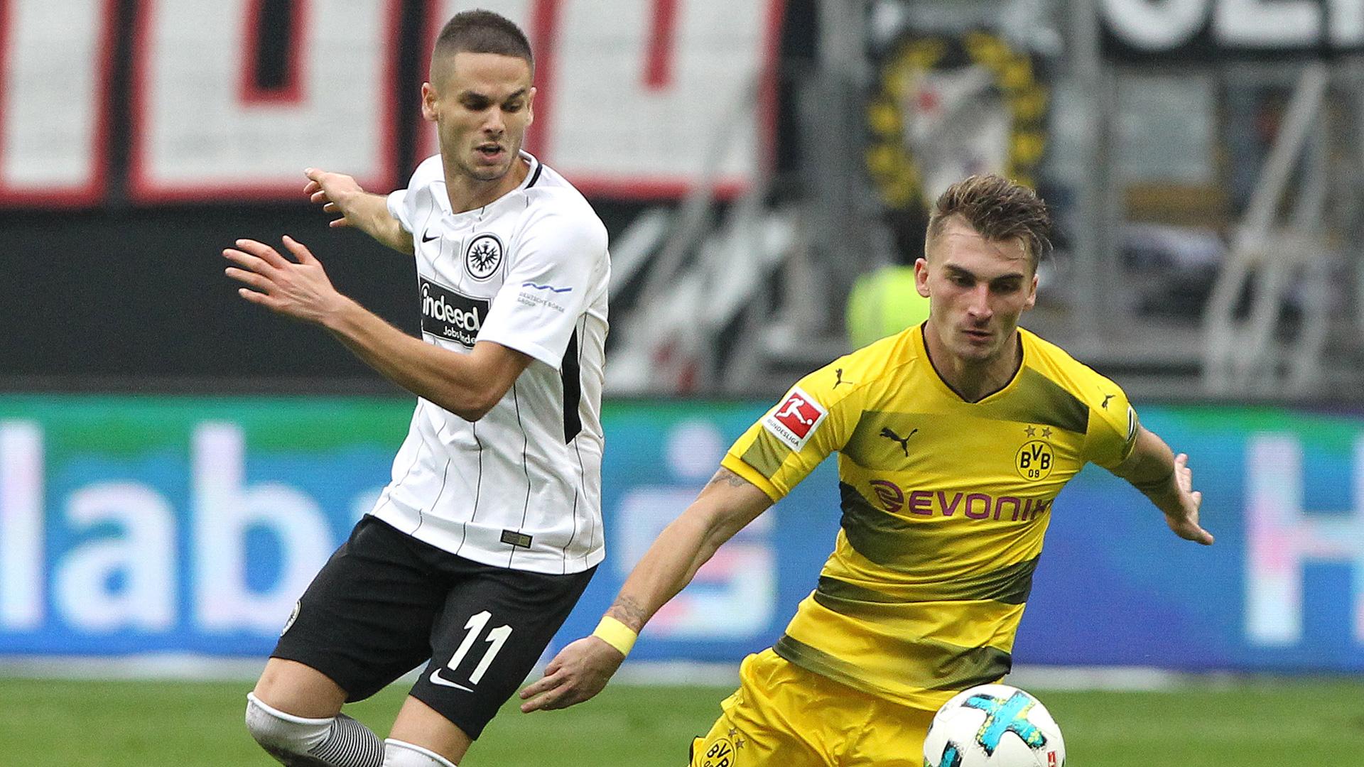 Mijat Gacinovic Eintracht Frankfurt Maximilian Philipp Borussia Dortmund 2017
