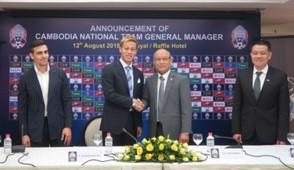 Honda become the head coach and manager of Cambodia national team.