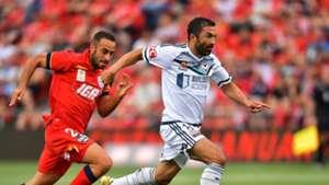 Tarek Elrich Fahid Ben Khalfallah Adelaide United v Melbourne Victory A-League 07012017