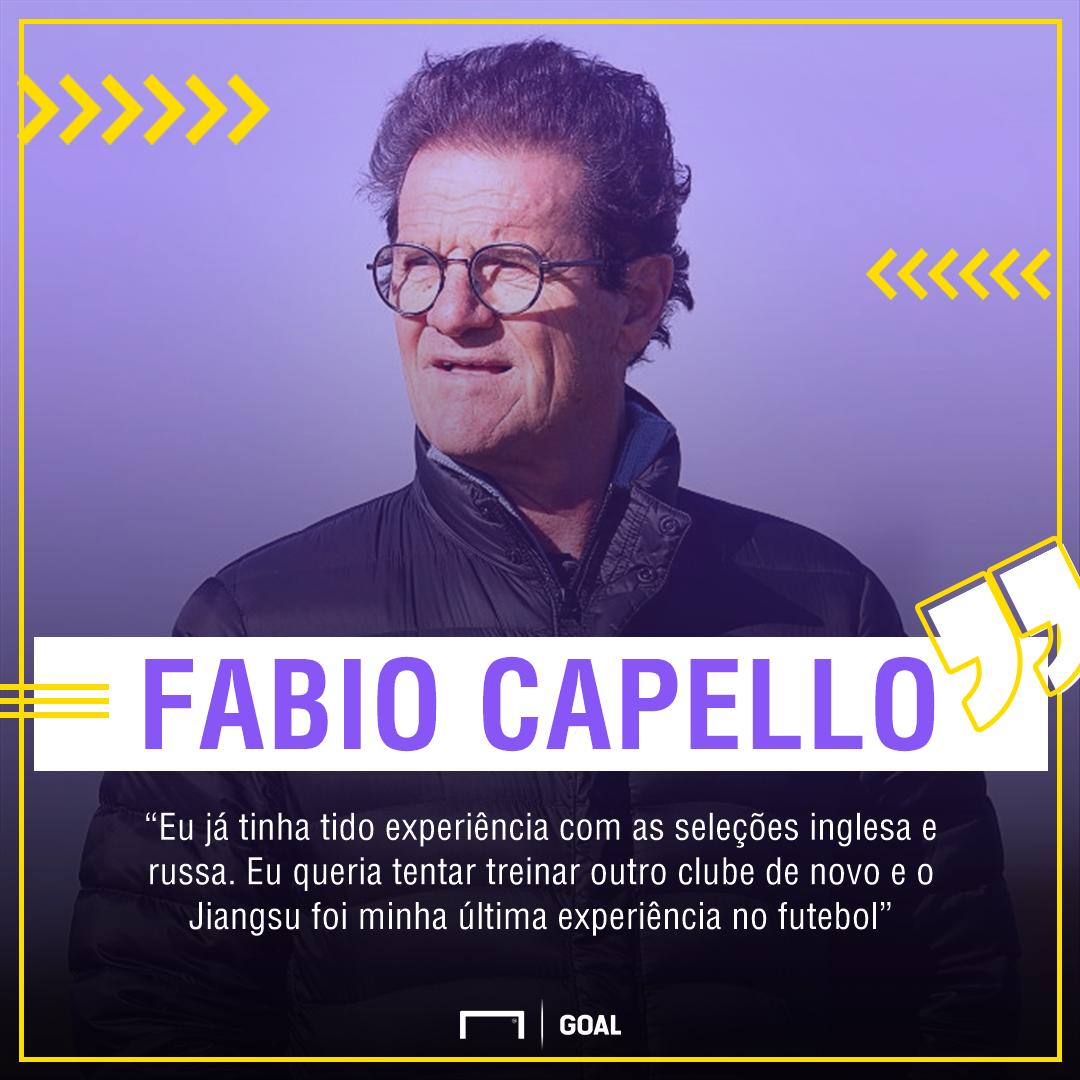 Ex-técnico de Milan, Real e Juventus, Capello anuncia a aposentadoria