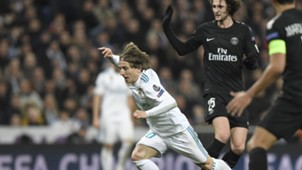 Luka Modric Real Madrid PSG Champions League 14022018