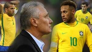 GFX Dani Alves, Tite Neymar Coutinho Brasil Sele??o 04 06 2019