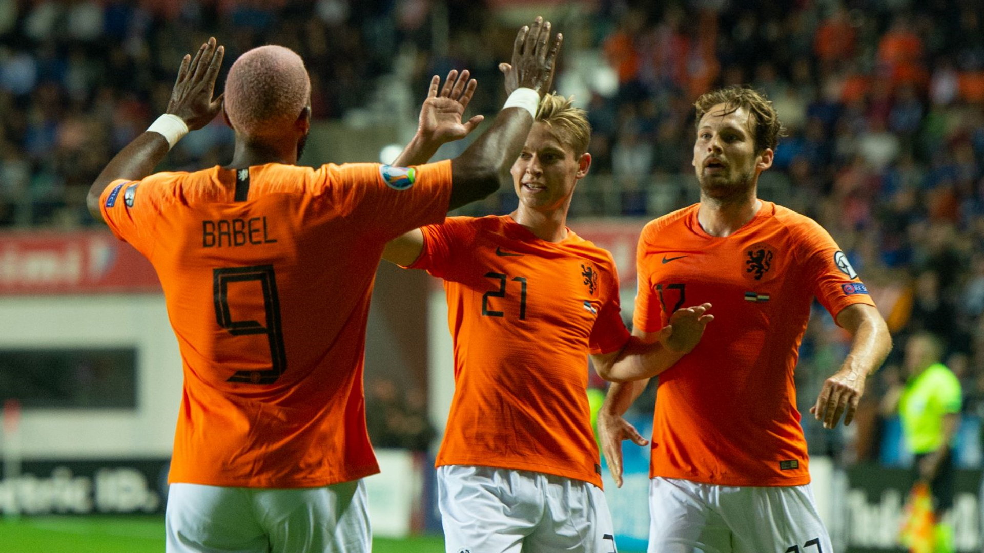 Ryan Babel, Frenkie de Jong, Daley Blind, Netherlands