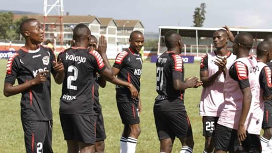 Ulinzi Stars players celebrate Mathare United win