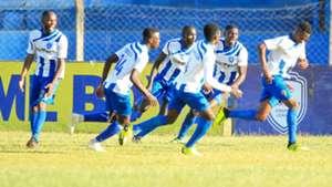AFC Leopards celebrate after beating Tusker.