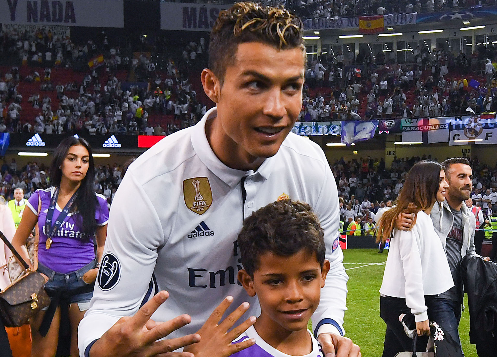 Cristiano Ronaldo hijo Real Madrid Champions League