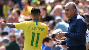 Coutinho Tite Brazil Croatia Friendlies 03062018