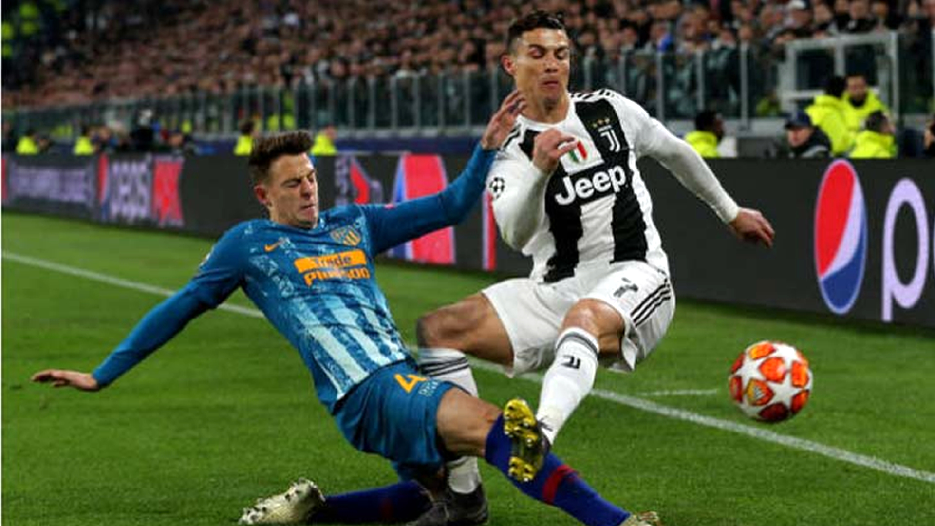 Santiago Arias Cristiano Ronaldo Juventus Atletico Champions League 12032019