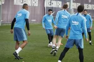 Lionel Messi Barcelona entrenamiento