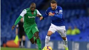 Joash Onyango of Gor Mahia v Everton.