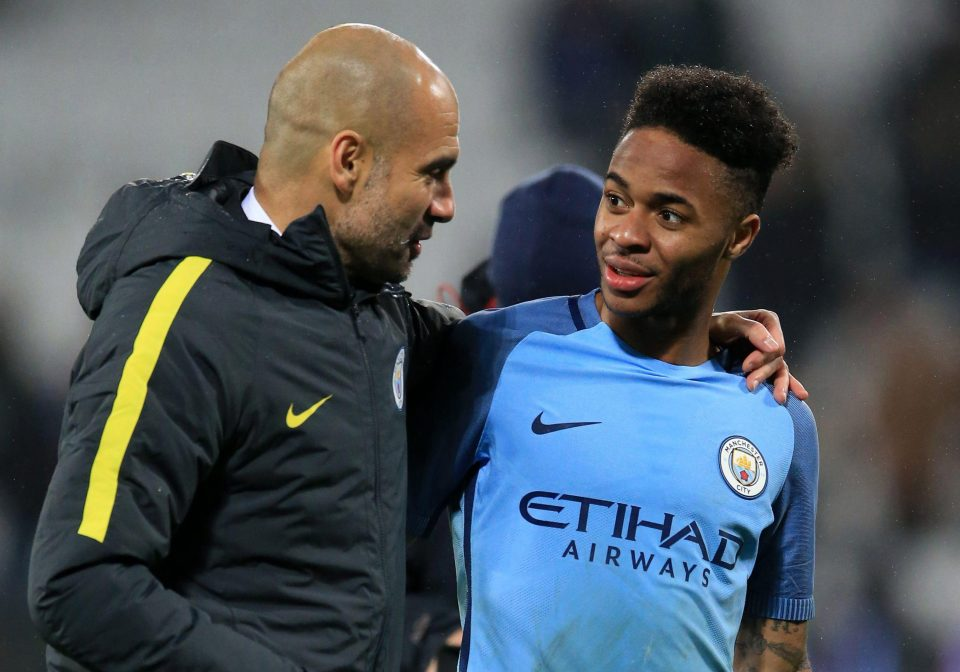 Raheem Sterling Pep Guardiola Manchester City