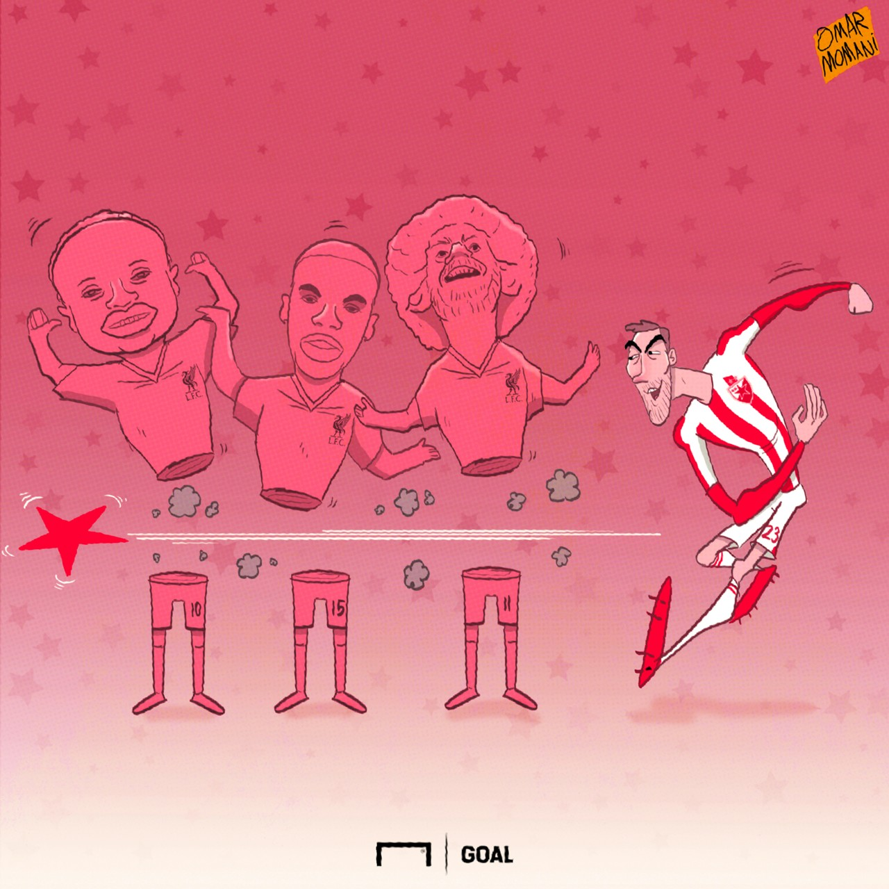 Red star cartoon of the day liverpool